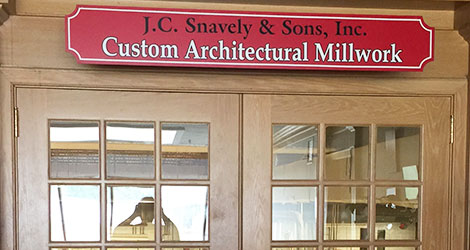 J.C. Snavely Architectural Millwork Division