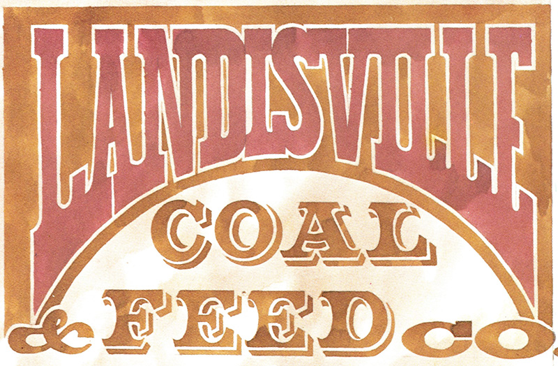 landisville coal and feed sign